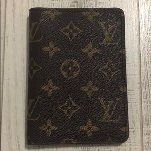 LV monogram passport holder